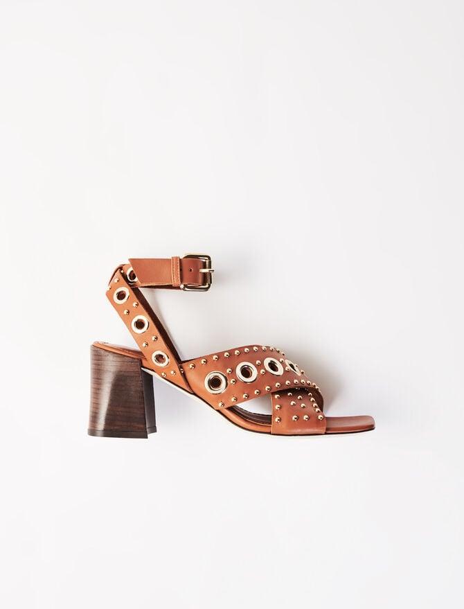 Sandali con tacchi borchiati - Sandali - MAJE
