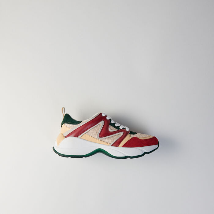 Sneakers W22 multimateriali : Sneakers colore VERT