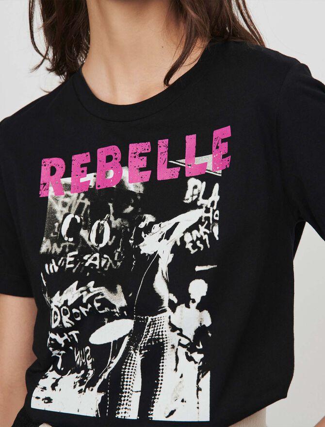 Tee-shirt serigrafata - null - MAJE