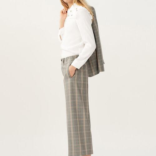 Pantaloni larghi a quadri - Pre-collezione - MAJE