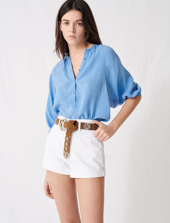 Short in jeans con cintura - Gonne e shorts - MAJE