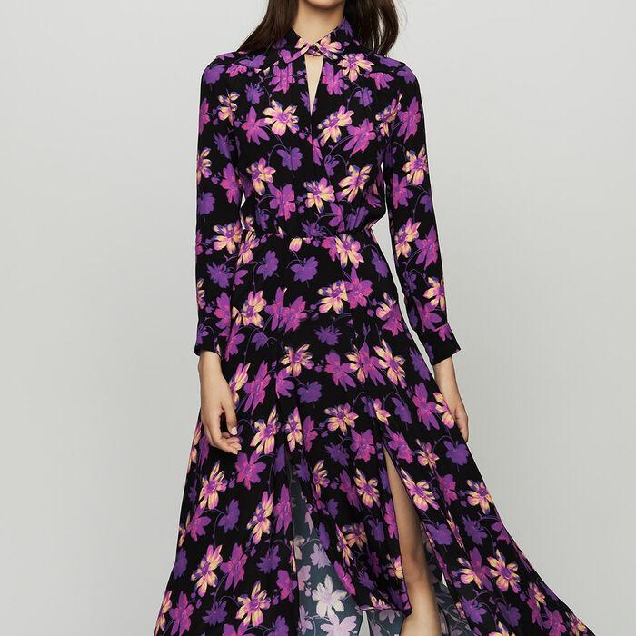 Vestito asimmetrico con stampe floreali : Vestiti colore Stampato