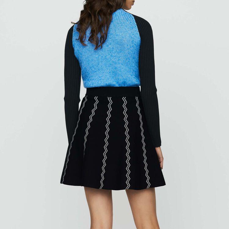 Gonna pattinatrice in maglia jacquard : Gonne e shorts colore Nero