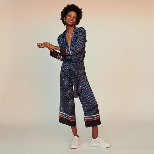 Tuta pantalone con stampa monogramma : Pantaloni colore IMPRIME