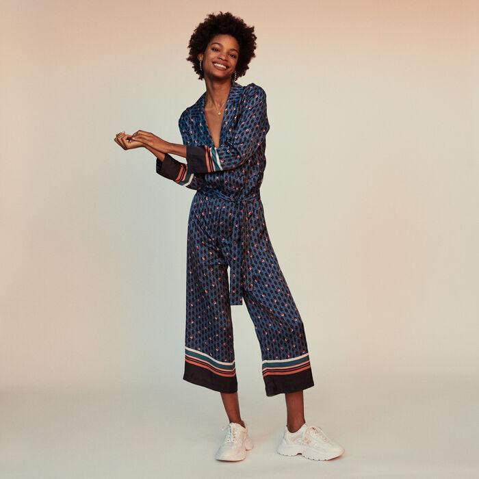 Tuta pantalone con stampa monogramma : Pantaloni e Jeans colore IMPRIME