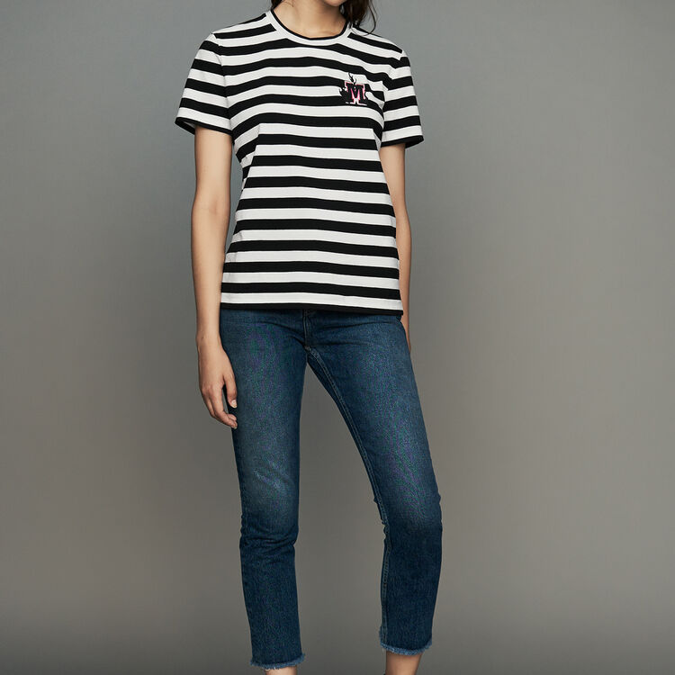 Tee-shirt in cotone a righe : Urban colore A Righe