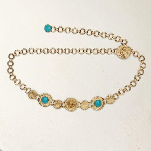 Cintura catena con medaglie martellate : Cinture colore OR