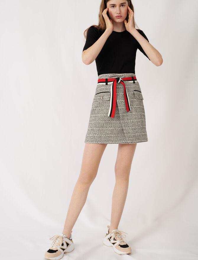 Gonna a portafoglio stile tweed - Gonne e shorts - MAJE