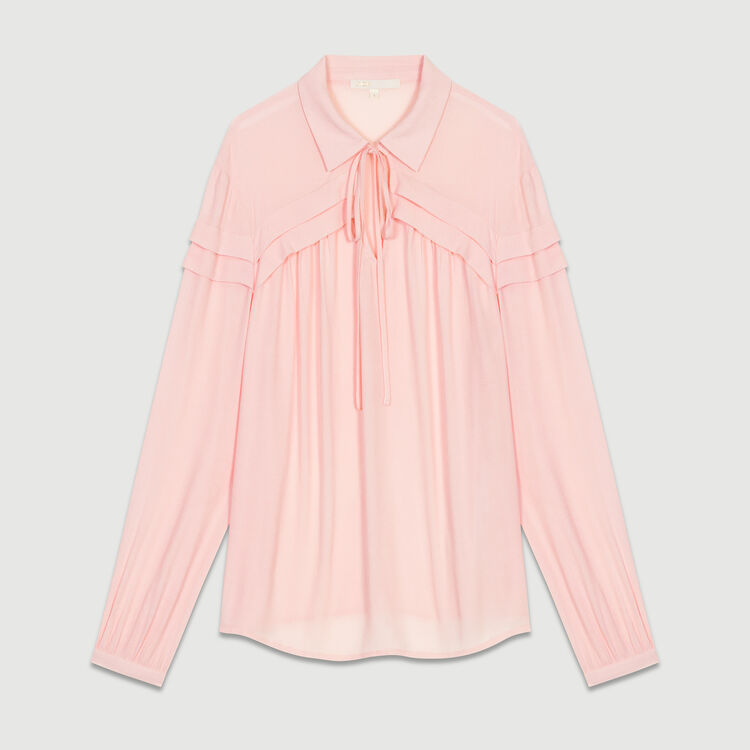 Shirt collar blouse : Tops colore LILA