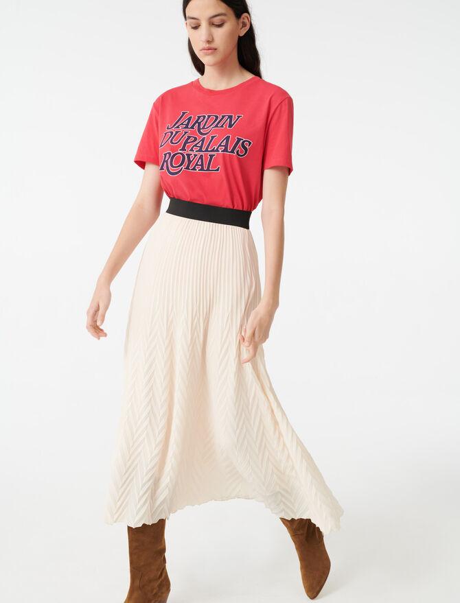 Gonna plissettata geometrica - Gonne e shorts - MAJE