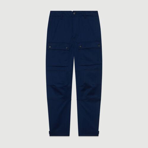 Pantaloni larghi tipo Worker : Pantaloni colore Blu