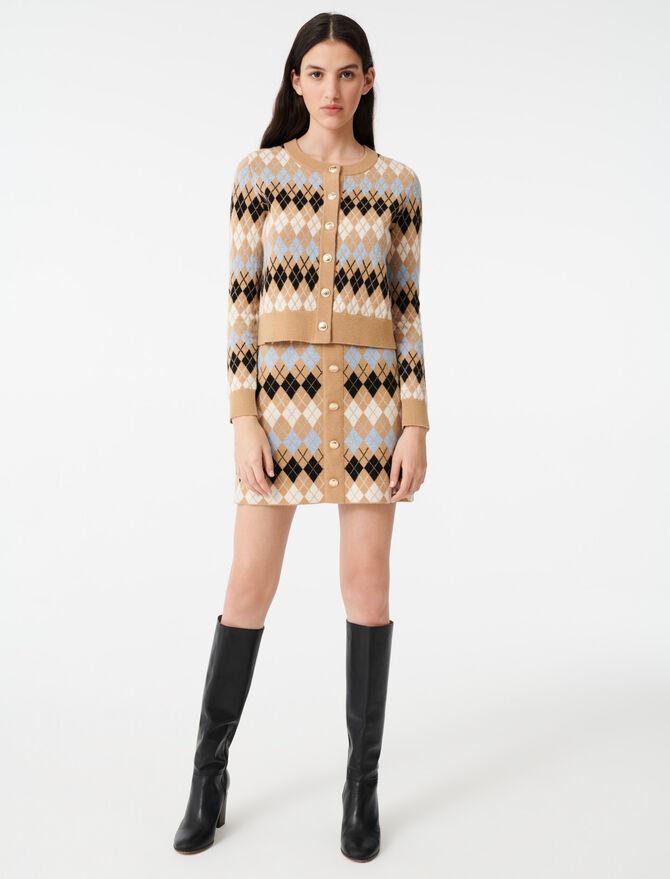 Cardigan corto in jacquard - Pullover e cardigan - MAJE