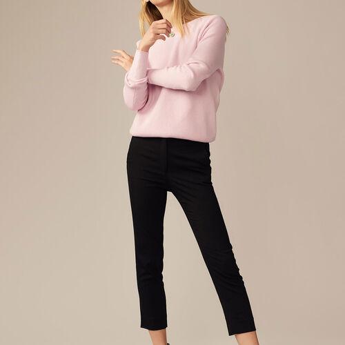 Pantalone dritto in viscosa : -60% colore Nero