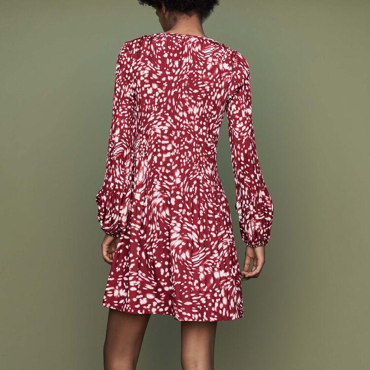 Vestito plissettato con stampa fantasia : Vestiti colore IMPRIME
