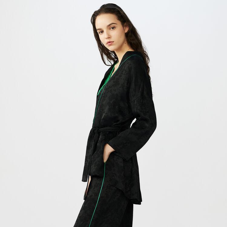 Giacca stile kimono in jacquard : Giacche colore Nero