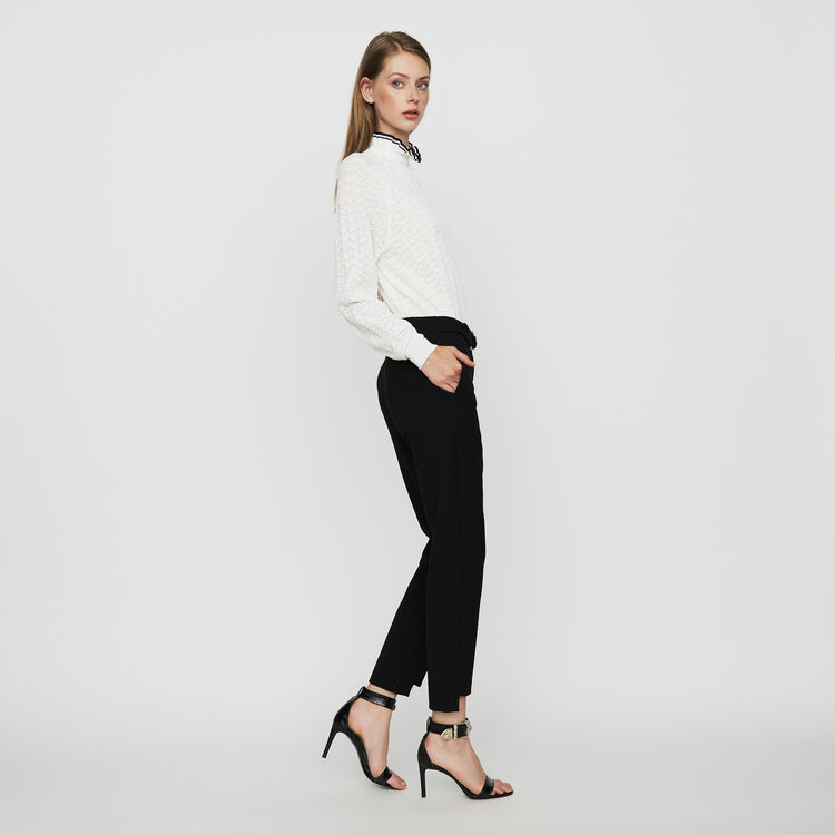 Straight cut trousers : Pantaloni colore Nero