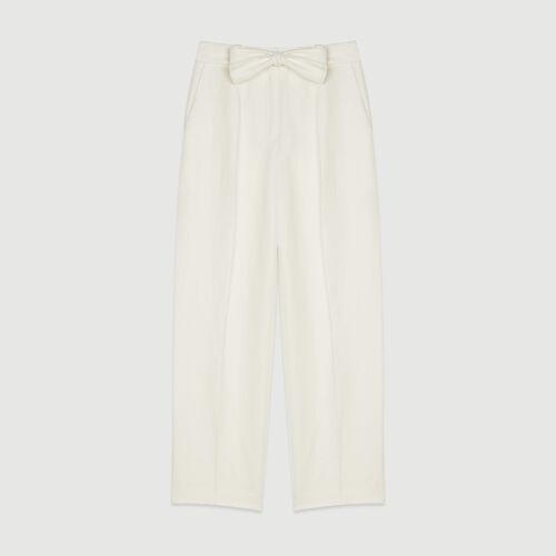 Pantaloni con pince : Pantaloni e Jeans colore Bianco