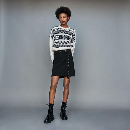 Pull in maglia jacquard : Prêt-à-porter colore ECRU