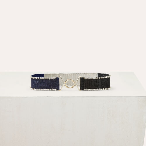 Beaded belt with glitz : Cinture colore Multicolore