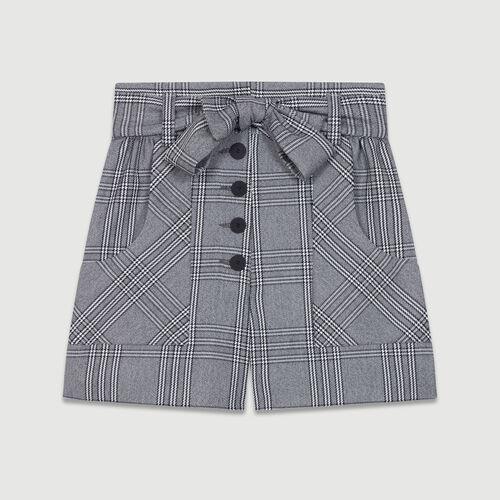 Pantaloncini stampati principe di Galles : Gonne e shorts colore CARREAUX