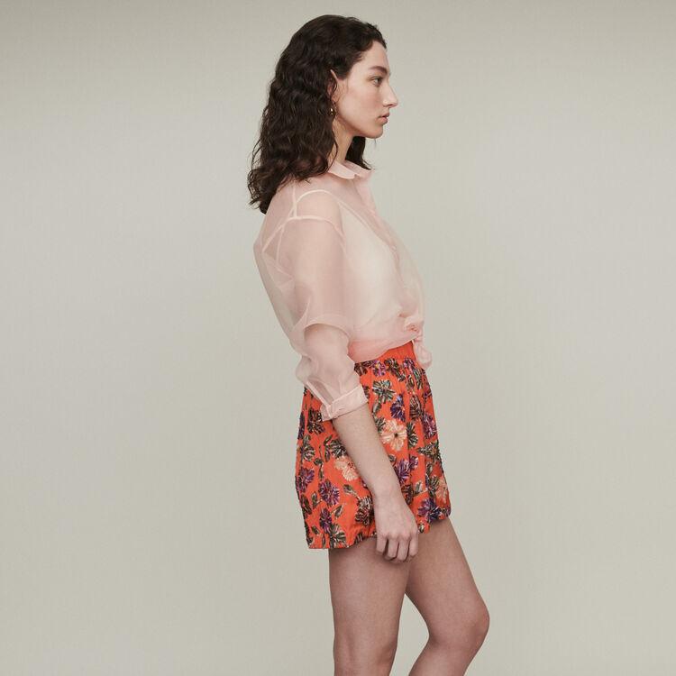 Short ricamati di paillettes : Gonne e shorts colore Corallo