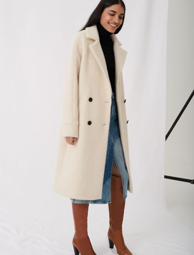Cappotto tricotine doppia abbottonatura - Cappotti e Giubbotti - MAJE