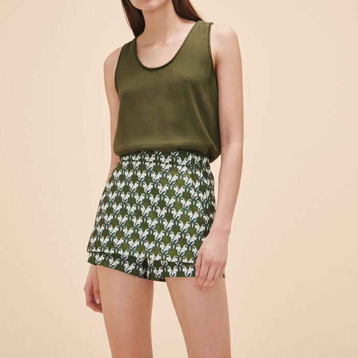 Short-gonna in jacquard - Hello Summer - MAJE