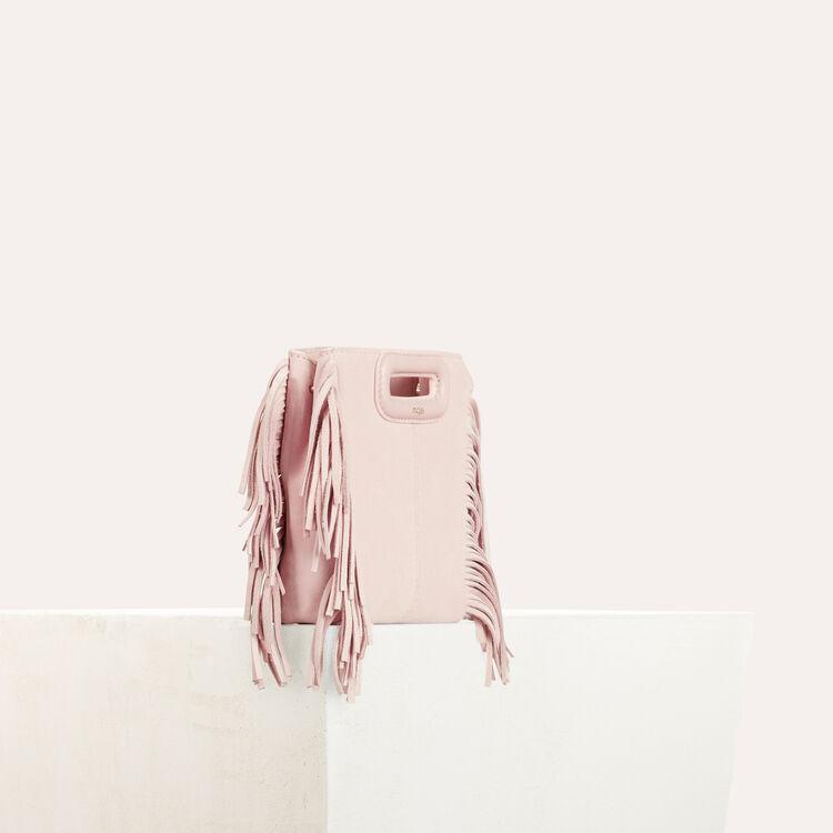 Mini borsa M con frange in pelle : Collezione estiva colore Nude