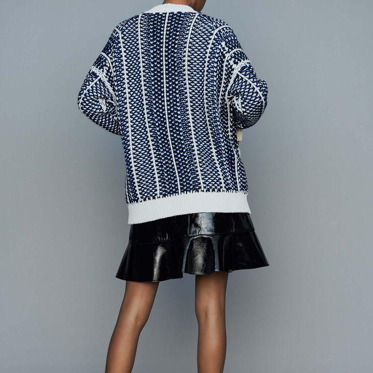 Gilet oversize in maglia jacquard : Nuova Collezione colore Blu