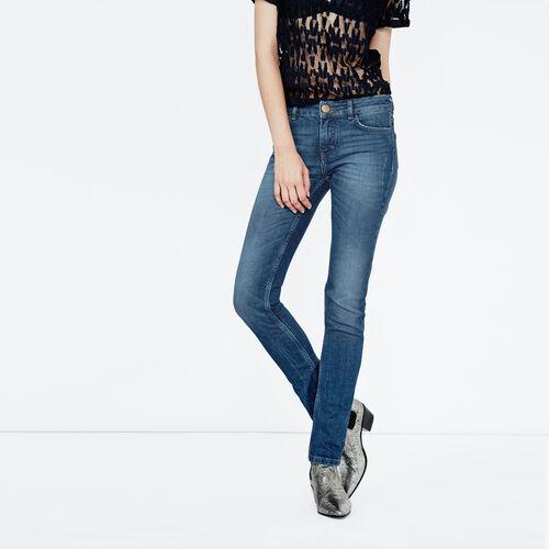 Jeans corto linea dritta : Pantaloni & jeans colore Denim