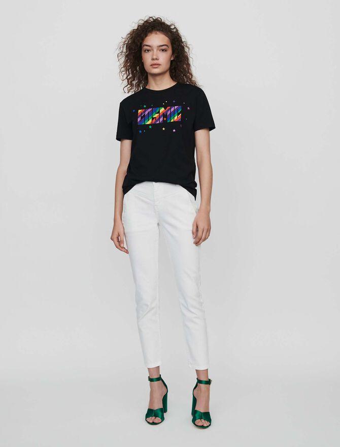 Tee-shirt ricamata - T-Shirts - MAJE