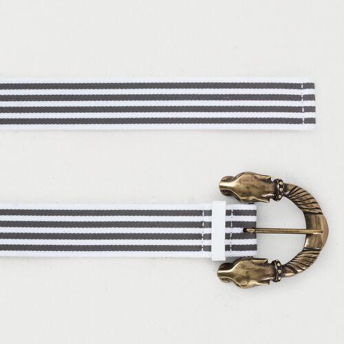 Striped belt : Cinture colore Grigio