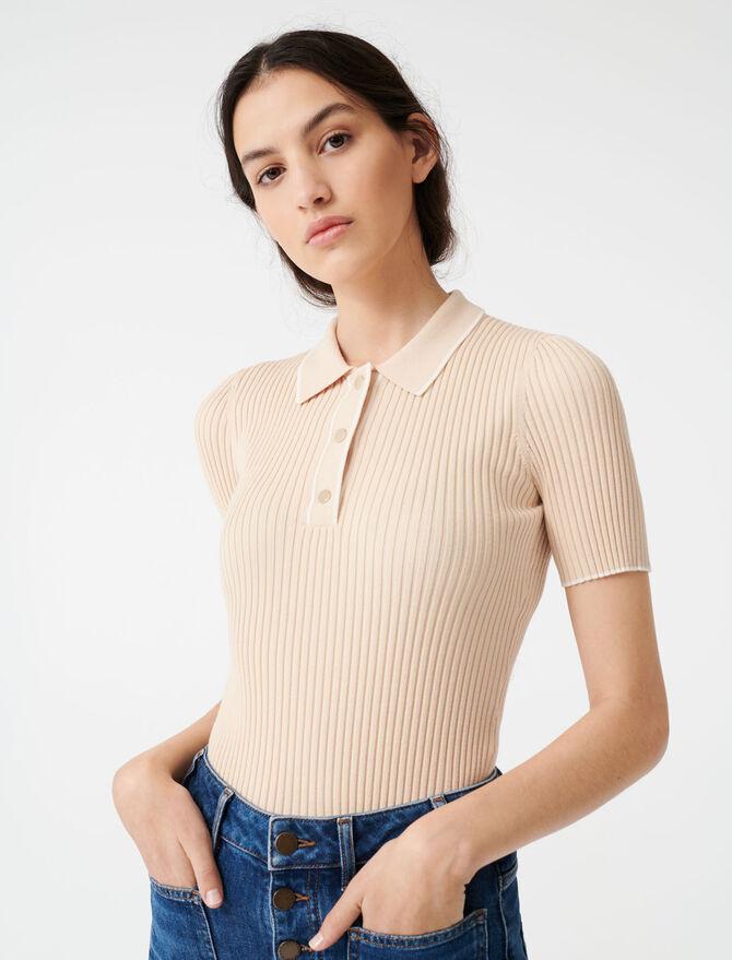 Maglione a coste stile polo - Pullover e cardigan - MAJE