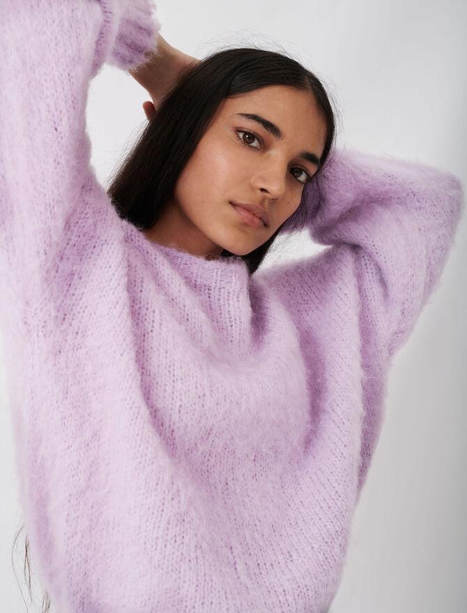 Maglione in maglia fluffy oversize - Pullover e cardigan - MAJE