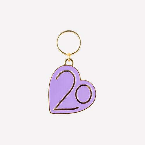 Portachiavi X 20 anni : Gadgets colore Violetto
