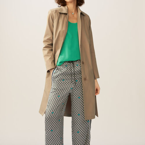 Trench con dettagli arricciati : Cappotti colore Beige