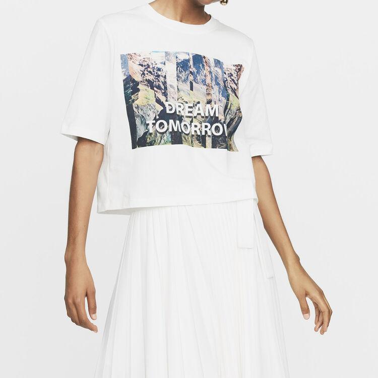 Tee-shirt corta stampata : Nuova Collezione colore Bianco