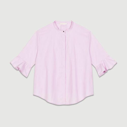 Camicia oversize in popeline : Camicie colore Rosa