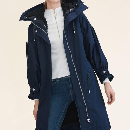 Parka lungo : Cappotti colore Blu Marino