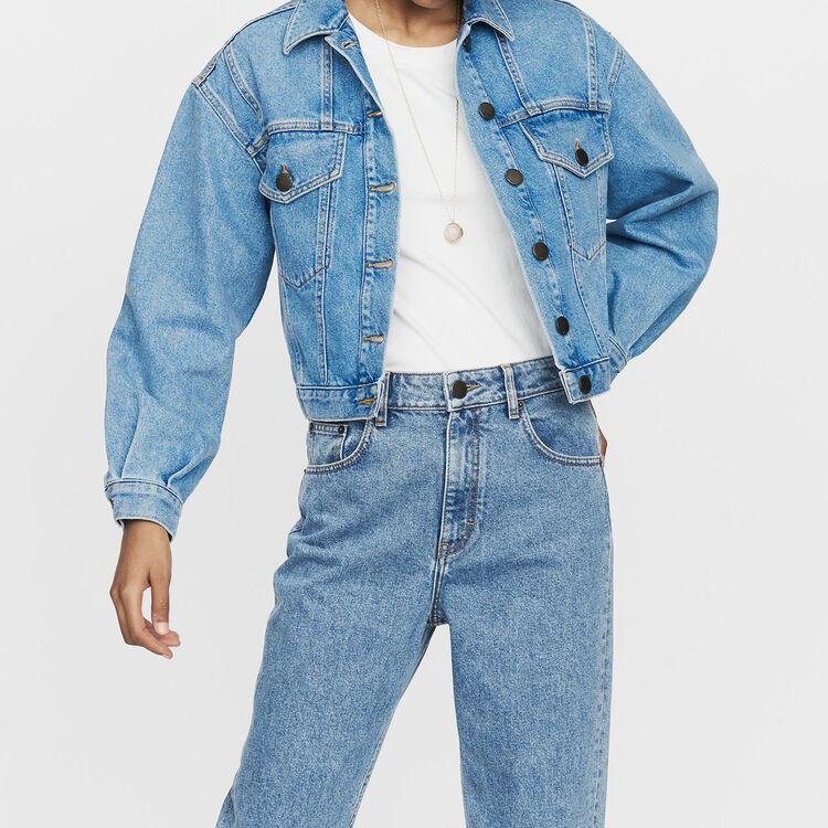 Giacca di jeans corta : Giubbotti colore Denim