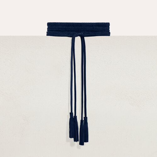 Cintura larga intrecciata : Cinture colore Nero