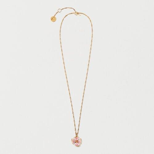 Collana fiore rosa : Collezione estiva colore OR