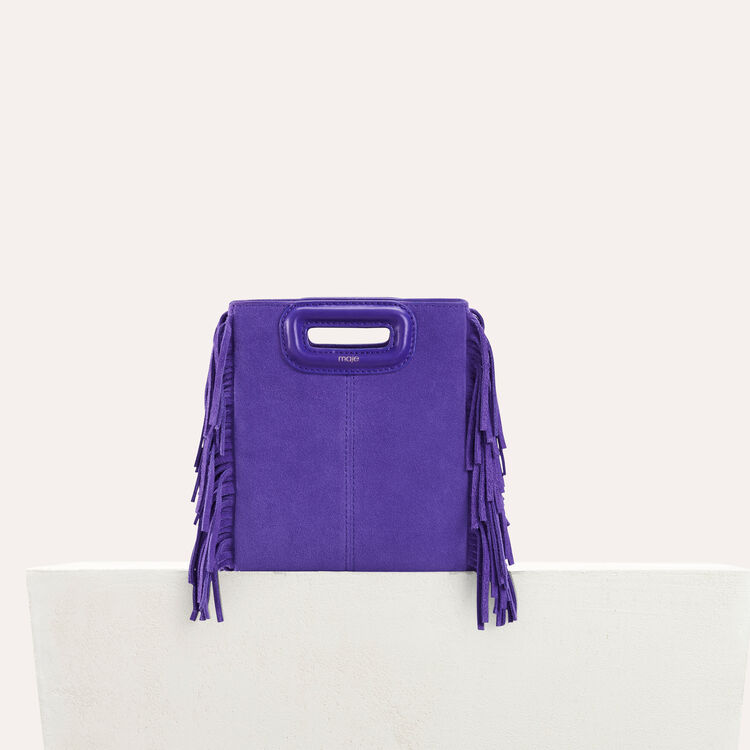 Mini-borsa M in suede con catena : null colore Violetto