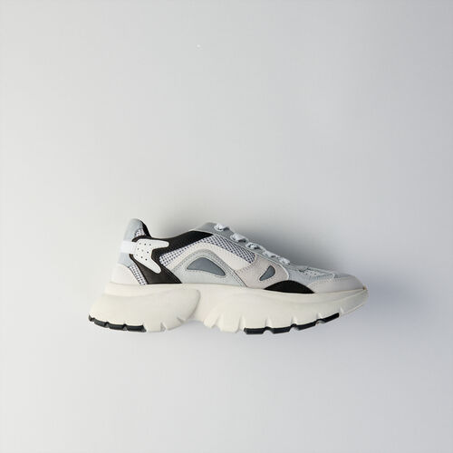 Sneakers W20 urbane in pelle : Sneakers colore Grigio