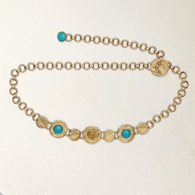 Cintura catena con medaglie martellate - SoldesDE-Toutvoir - MAJE