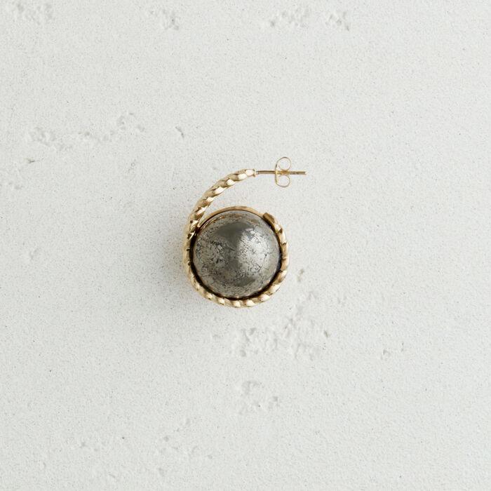Orecchino sinistro  in pietra naturale : Gioelli colore Argento Antico