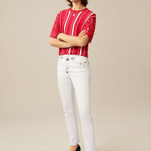 Jeans dritti con dettagli contrastanti : Pantaloni & jeans colore Bianco