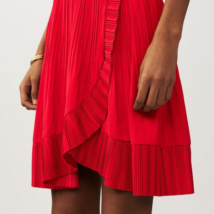 Wrap short pleated skirt : Gonne e shorts colore ROUGE