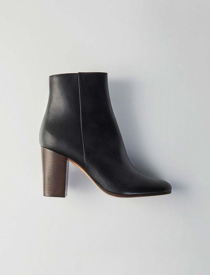 Stretch velvet goat leather thigh boots - LastchanceDE-Accessoires - MAJE