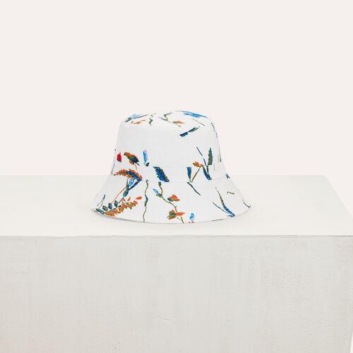 Cappello pescatore in cotone : Scialli & Poncho colore Bianco